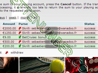 BetVoyager Casino was beaten by Sébastien