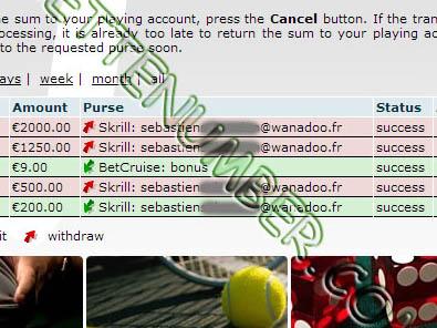 BetVoyager Casino was beaten by Sébastien